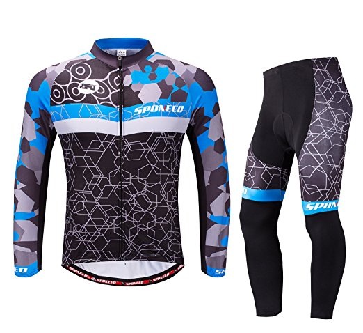 Sponeed Men's Long Sleeve Cycling Jerseys