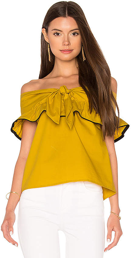 Line & Dot Lorena Off Shoulder Top