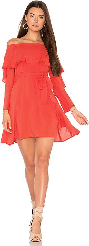 Line & Dot Raquel Off Shoulder Dress