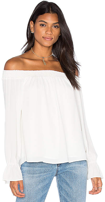 Three Eighty Two Evangeline Off Shoulder Long Sleeve Top