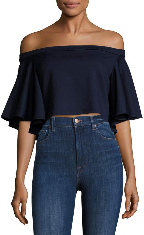 Torn by Ronny Kobo Women's Off Shoulder Striped Blouse