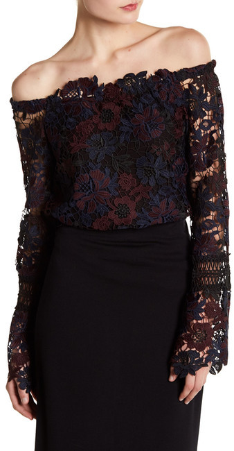 Willow & Clay Off Shoulder Allover Lace Top