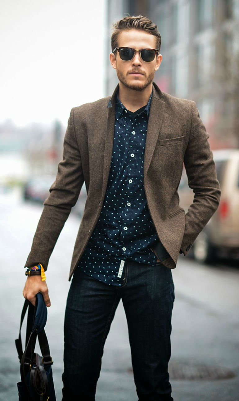 men-navy-shirt-blue-jeans-formal-smart-casul-wear-street-style